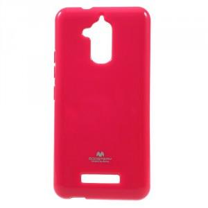 Pouzdro Jelly Case Asus Zenfone 3 Max ZC520TL - tmavě růžové lesklé třpytivé