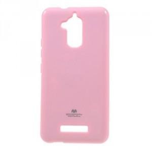 Pouzdro Jelly Case Asus Zenfone 3 Max ZC520TL - světle růžové lesklé třpytivé