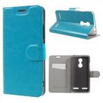 Koženkové knížkové pouzdro Lenovo K6 - Modré