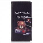 Koženkové pouzdro Nokia 3 - Don't touch my phone