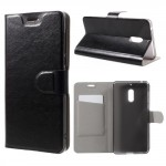 Tenké koženkové pouzdro Nokia 6 - Černé