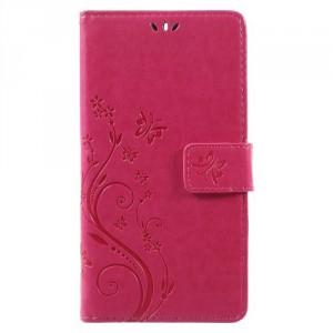 Koženkové pouzdro Nokia 6 - Růžové květy