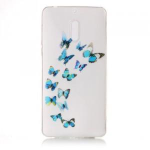 Pouzdro / Obal Nokia 6 - průhledné - Motýli 02
