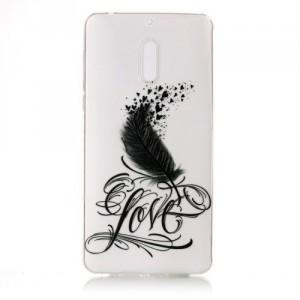 Pouzdro / Obal Nokia 6 - průhledné - Love