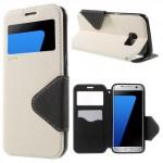 Pouzdro S-View Galaxy S7 Edge - Bílé