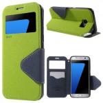 Pouzdro S-View Galaxy S7 Edge - Zelené