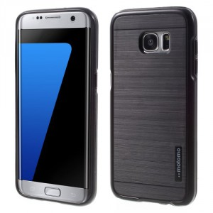 Kryt / Obal Galaxy S7 Edge - černý broušený vzor