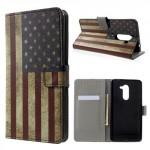 Koženkové pouzdro Honor 6X - Vlajka USA