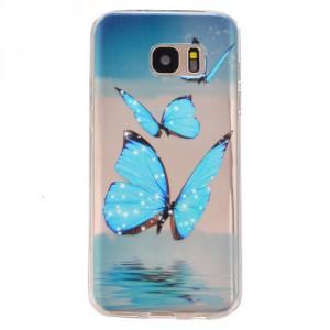 Pouzdro / Obal Galaxy S7 - Průhledné - Motýl