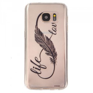 Pouzdro / Obal Galaxy S7 - Průhledné - Life love