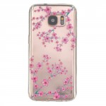 Pouzdro / Obal Galaxy S7 - Průhledné - Květy 02