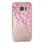 Pouzdro / Obal Galaxy S7 - Průhledné - Květy 03