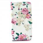 Koženkové knížkové pouzdro Galaxy S6 - Květy 04