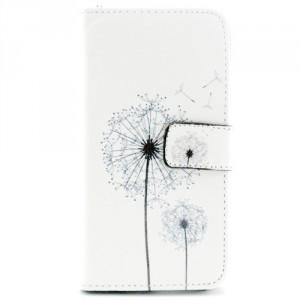 Koženkové knížkové pouzdro Galaxy S6 - Pampelišky