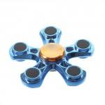 Fidget spinner pětihrany modrý