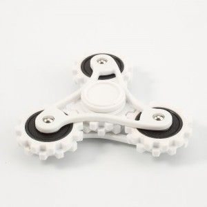 Fidget spinner ozubený bílý