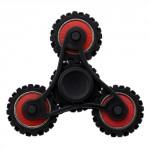 Fidget spinner ozubený černý-červený