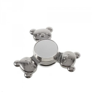 Fidget spinner medvídci - stříbrný