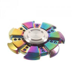 Fidget spinner sedmihranný - duhový