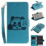 Koženkové pouzdro Huawei P9 Lite - modrá panda