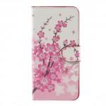 Koženkové pouzdro Huawei P10 Lite - Květy 02