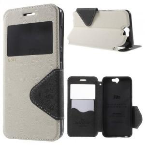 Pouzdro S-View HTC One A9 - Bílé