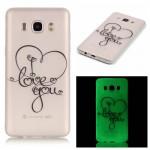 Zadní kryt / Obal Samsung Galaxy J7 (2016) - průhledné - love you