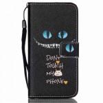 Koženkové knížkové pouzdro Galaxy S6 - Don´t touch my phone