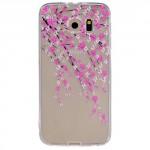 Pouzdro / Obal Galaxy S6 - průhedné - Květy 01
