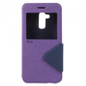 Pouzdro S-view Zenfone 3 Max ZC520TL - fialové