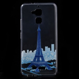 Pouzdro / Obal Asus Zenfone 3 Max ZC520TL - Průhledné - Eiffelovka