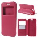 Pouzdro Window View HTC One A9 - Růžové