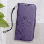 Pouzdro Huawei Y6 II Compact - květy a motýli - fialové