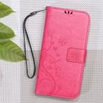 Pouzdro Xiaomi Redmi Note 3 - květy a motýli - růžové