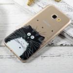 Pouzdro Galaxy A3 (2017) - průhledné - kočky