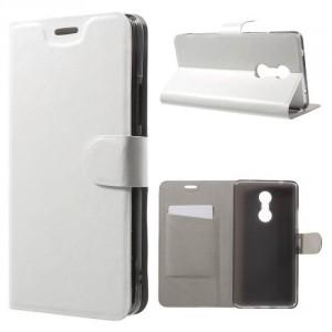 Koženkové pouzdro Lenovo K6 Note - bílé