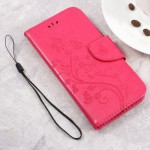Koženkové pouzdro Zenfone Go ZB500KL - růžové  květy