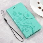 Koženkové pouzdro Zenfone Go ZB500KL - zelené květy