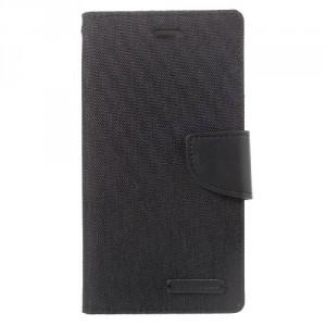 Koženkové pouzdro Canvas Diary  Huawei P10 - černé
