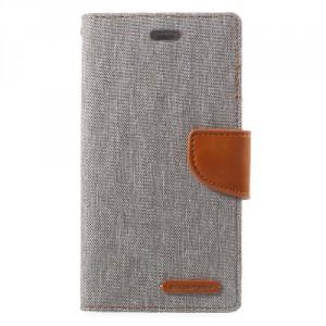 Koženkové pouzdro Canvas Diary  Huawei P10 - šedé