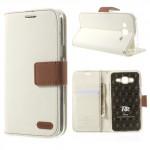Pouzdro Canvas Diary Galaxy S6 Edge - bílé