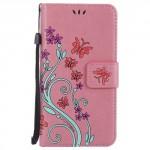 Koženkové pouzdro  Huawei P10 - Světle růžové s motýly