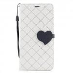 Koženkové pouzdro  Huawei P10 - Bílé se srdcem