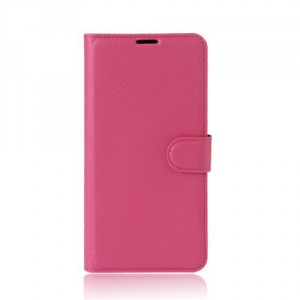 Koženkové pouzdro Alcatel A5 LED - tmavě růžové