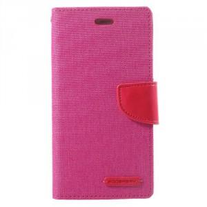 Koženkové pouzdro Canvas Diary  Huawei P10 - růžové