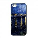 Pouzdro / Obal - iPhone 5/5S - Hvězdná noc nad Rhônou