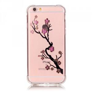 Průhledné pouzdro iPhone 6 - Květy 04