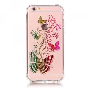 Průhledné pouzdro iPhone 6 - Motýli