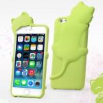 Pouzdro iPhone 6 - Kočka - zelená