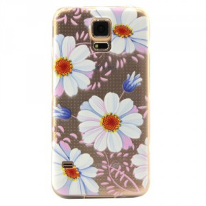 Pouzdro / Obal - Galaxy S5 - Průhledné s květy 02